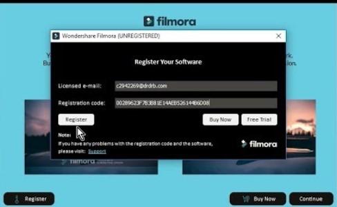 Filmora Registration Code For Free 2019