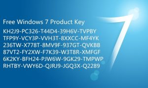 Windows 7 Professional Product Key 32/64bit 2019 for Free